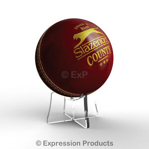 Acrylic Cricket Ball Display Stand Riser Plinth 8 Colours Available