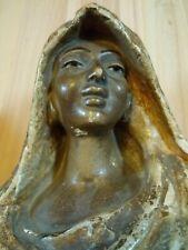 ancien buste gitane signé 1900