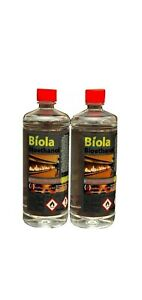 2 X 1L Bioethanol Fuel UK FAST DELIVERY.