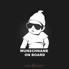 Wunschname on Board Baby Aufkleber hangover sticker Kind an Bord FUN
