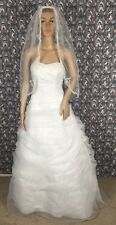 David Bridal Womens White Wedding Dress Size 2 Worn One Time Excellent Condition