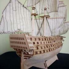 DIY Sailboat Wooden Model Ship Toy Sailing Decoration Assembling Building Kit