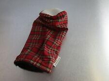 Sunfish Golf Canvas Knit Fairway Headcover Red Checkered Plaid Custom