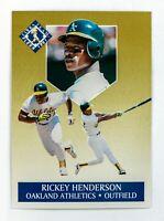 Rickey Henderson #5 (1991 Fleer Ultra) Gold Insert Card, Oakland Athletics