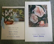 Two Menu Cards for Ladies' Evening at Summit Lodge, 1954. by Anon