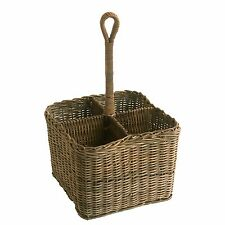 Best Quality Large Grey Wicker Rattan Condiment or Cutlery Holder Basket