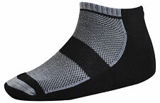 Pack of 3 : OCTAVE® Mens Cotton Rich Trainer Socks - Size UK 7-11 - Black / Grey