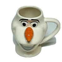 Disney Frozen 2 Olaf Snowman Sculpted Sculptural Molded 3D Coffee Mug Cup Cute!