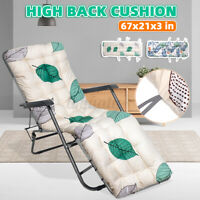 Lounge Chair Cushion Tufted Soft Deck Chaise Padding Outdoor Patio Pool Recline