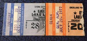 Emerson Lake & Palmer 2 Concert Ticket Stub Lot 1977