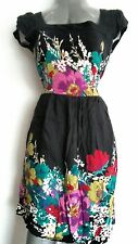 ASOS floral dress, size 10, Black and contrast flowers --MINT--