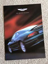 Aston Martin DB7 Driving Dynamics i6 Upgrades GT brochure Works Service