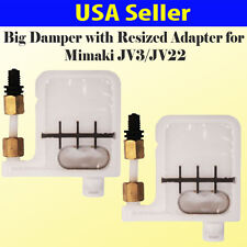 2x Big Damper with Resized Adapter for Mimaki JV3 / JV22 Epson DX3 DX5 US Seller