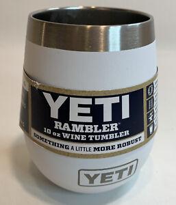 YETI Rambler 10 oz Wine Tumbler Vacuum Insulated Stainless Steel White New