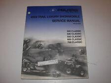 2003 Polaris 340 500 550 600 700 Snowmobile Service Manual with CD , p/n 9918050