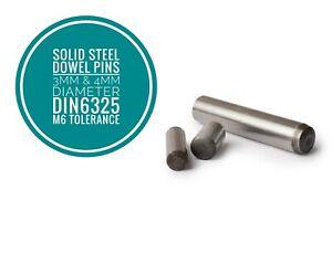 Metric Hardened and Ground Steel Dowel Pins DIN6325 3mm & 4mm Diameter 50pcs