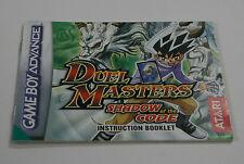 DUEL Masters: OMBRA DEL CODICE-PAL-Nintendo Gameboy Advance solo manuale