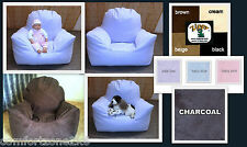 UPTO 10YRS ZIPPY FAUX SUEDE CHILDRENS BEANBAG ARMCHAIR CHILD BEAN BAG CHAIR SEAT