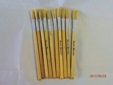 Major Brushes 53106-10 Flat Tip Hog Bristle Paste Brush Dowel Handle 10 Pack