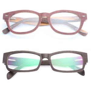 Glasses for the myopia Lens Retro Mens Ladies Near-Sighted Lenses Wood Frame
