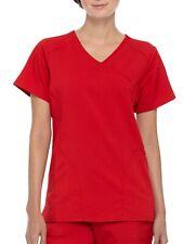 Scrubstar Women's Premium Rayon Mock Wrap Scrub Top - Chili Red - Large