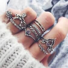 10pcs Orientalisches Vintage Fashion Midi Ringe Fingerring-Set für Damen Mädchen