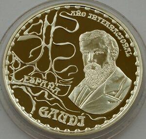 SPAIN SILVER 10 EURO 2002 GAUDI CASA MILA PROOF COIN