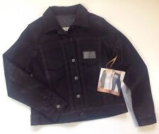 MIRACLESUIT BODY Black Jean Jacket Size Small S Faux Leather Shine Treated Coat