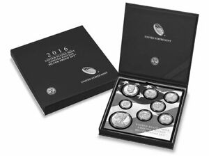 2016 Limited Edition Silver US Mint (San Fran) Eight Coin Proof Set w/COA & Box!