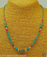 Turquoise Collier collier Népal Chaîne Bijou Bijoux fantaisie Indien a62/1