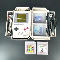 Nintendo Gameboy Original DMG-01 w/4 Games(Mario, Tetris) & Nexoft Carryall Case