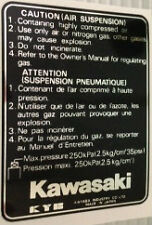 KAWASAKI GPZ1100B1 GPZ1100B2 CAUTION AIR SUSPENSION FORK LEG WARNING DECAL