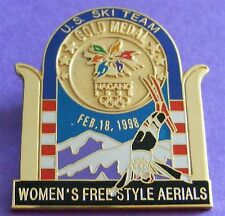 NAGANO 1998 Winter Olympic Games Gold Medal Women's Freestyle Aerials PIN in BOX