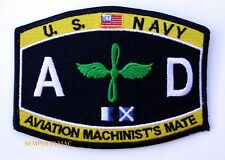 Aviation MACHINIST's Mate AD HAT PATCH USS PIN UP USN VETERAN ENLISTED GIFT WOW
