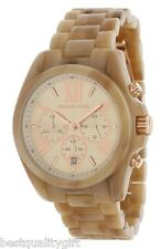 MICHAEL KORS BRADSHAW ACRYLIC HORN+ROSE GOLD,CHRONO,ROMAN # DIAL WATCH- MK5840