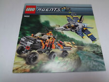 LEGO INSTRUCTIONS ONLY.....Set 8630 AGENTS, Gold Hunt ...INSTRUCTIONS ONLY