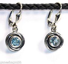 Ohrringe / Ohrhänger aus Silber 925 mit echtem Topas / Sterlingsilber