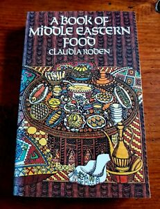 """Vintage """"A BOOK of MIDDLE EASTERN FOOD"""" Cookbook by Claudia Rosen 1974 New"""