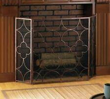 Clover Pattern Iron Fireplace Screen