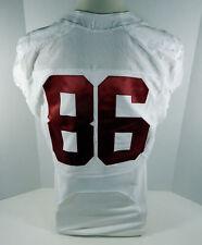 2009-15 Alabama Crimson Tide #86 Game Used White Jersey Bama00244