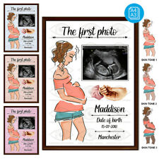 Personalised baby scan Picture-A perfect souvenir-Add scan or newborn photo