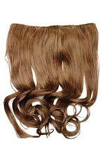 Clip-In Extension cheveux large résistant à la chaleur 5 clip bouclée brun clair