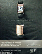 PUBLICITE ADVERTISING 086  2011  la montre Jaeger-Lecoultre  reverso Ultra thin