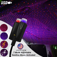 Usb Car Interior Atmosphere Starry Sky Lamp Ambient Star Light Dual Colors