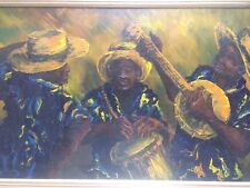 Important Early Lyonel Laurenceau Oil On Canvas Haitian Vodou Vaudou Creole Art