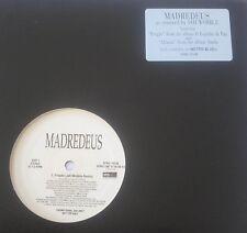 """MADREDEUS - PREGAO / ALFAMA 12"""" JAH WOBBLE REMIX METRO BLUE VINYL 1996 Promo"""