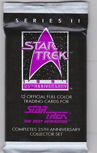 5 packs - 1991 Star Trek 25th Anniversary Packs Series 2 The Next Generation