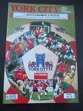 York City V  Scunthorpe      1991/2