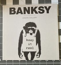 BANKSY RARE Exhibition Book  keep it real Cover Limited Edition Street Art