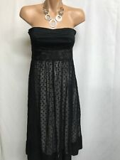 COOPER ST SIZE 8 BLACK STRAPLESS  SPOTTED MESH DRESS, SPECIAL EVENT
